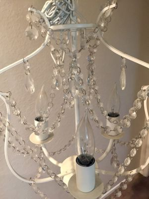 White small chandelier for Sale in Moreno Valley, CA