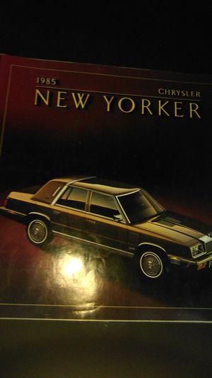 85 Chrysler New York Advertising Brochure for Sale in Dillsburg, PA