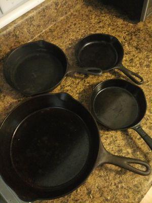 Heavy duty cast iron pan set for Sale in West Warwick, RI