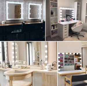 Large Frameless Hollywood Lighted Makeup Mirror w 15 Dimmable LED Vanity Lights •free shipping for Sale in Beverly Hills, CA
