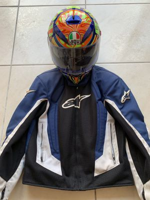 AGV K3 SV Five Continents L and Alpinestars jacket M for Sale in Pembroke Pines, FL