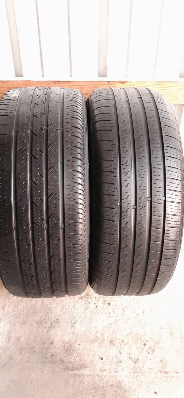 2 tires 245 45 18 pirelli & continental run flat low pro