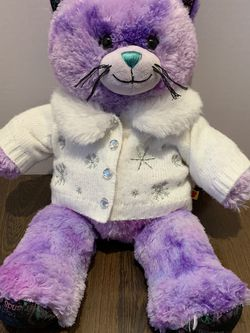 Build A Bear Workshop Purple Kitty With White Snow Sweater for Sale in Sylmar,  CA