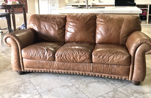 Leather sofa, chair & ottoman set for Sale in Lake Worth, FL