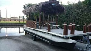 Tiki pontoon boat with trailer. for Sale in Fort Lauderdale, FL