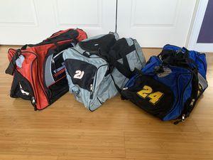 Nascar Duffle Bags (Jeff Gordon, Tony Stewart, Dale Earnhardt Jr.) for Sale in Turlock, CA