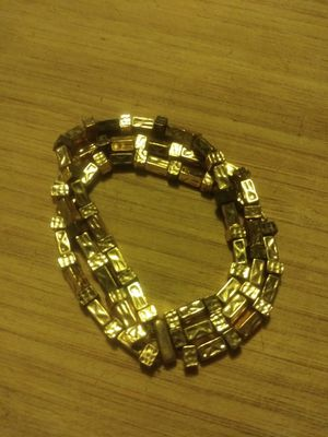 Gold colored nugget bracelet for Sale in Salinas, CA