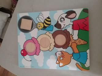 2 sided Wooden puzzles set of 4 for Sale in Puyallup,  WA