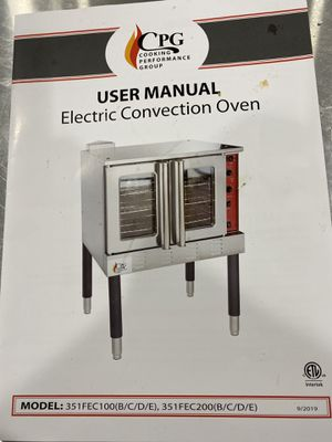 NEW! (2)CPG Electric Convention Oven Phase 3 for Sale in Independence, MO