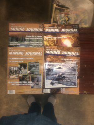 4 Back Issue Prospecting an Mining Journal magazine for Sale in Sherwood, OR