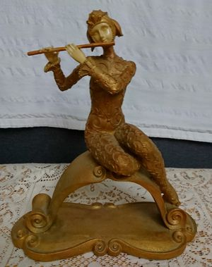 Unique Collectible Gold Lady Playing Flute Statue for Sale in Fair Oaks, CA
