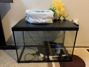 Fish tank 20 gallons with all for Sale in Mukilteo, WA