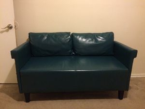 Faux Green Leather Sofa for Sale in Temple Hills, MD