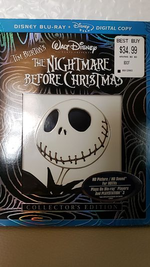 Disney The Nightmare Before Christmas Blu-ray Collectors Edition for Sale in Miami Springs, FL