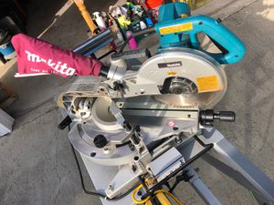 Makita miter saw on rigid folding table for Sale in Chino Hills, CA