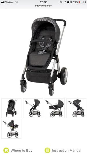 Baby Trend Convertible Stroller, Car seat and base for Sale in Fort Rucker, AL