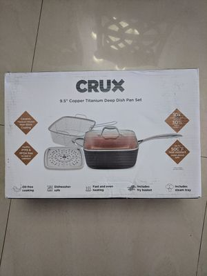 "Crux 9.5"" Copper Titanium Deep Dish Pan Set for Sale in Miami, FL"