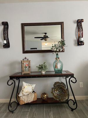 Console table , Mirror , sconce for Sale in Saginaw, TX