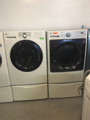 Kenmore front load washer and dryer set in excellent condition with pedestal for Sale in Baltimore, MD