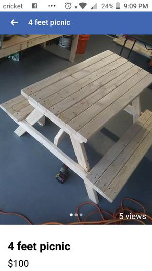4 feet picnic table . My best seller for Sale in Hilo, HI