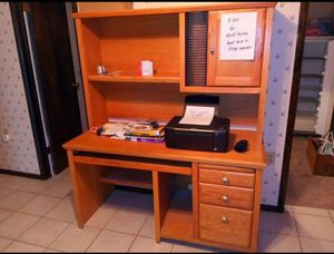 Office set with desk shelf and cabinet for Sale in Dayton, OH