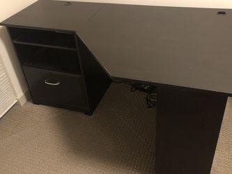 Bush Furniture Cabot Corner Desk, Espresso Oak for Sale in Seattle,  WA