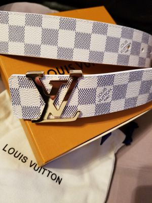 😎NWT Louis Vuitton Belt White/Azur Damier for Sale in Queens, NY
