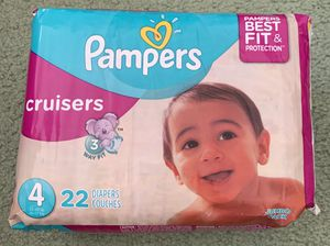 New, Unopened Pampers Easy Ups (3T-4T/30-40 lbs) or Cruisers (Sz 4/22-37 lbs) - 22 ct per pack Baby Diapers for Sale in San Francisco, CA