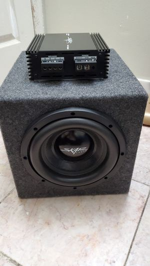 "8"" skar subwoofer and skar amp for Sale in CARPENTERSVLE, IL"