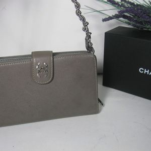 Chanel Dark Grey CC Small Bag Wallet for Sale in McHenry, IL