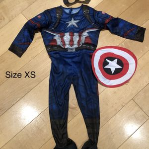 Captain America Kids Costume Size XS (3-4) for Sale in Hillsborough, CA
