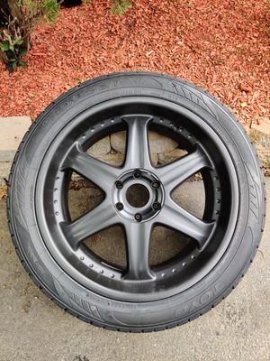 """22"""" Rim and tire package (0 miles on tires) for Sale in South Attleboro, MA"""