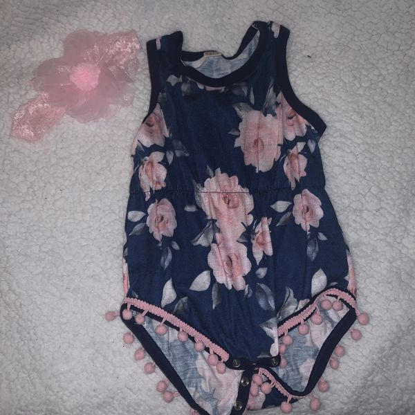 Baby girl jumpers with headbands