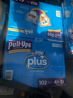 Huggies pull up pampers for 25$ a box brings 102 size 4t/5t for Sale in Philadelphia,  PA