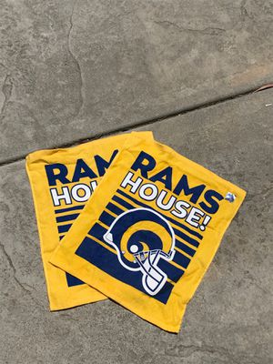 Rams football rally towels (2) for Sale in Alta Loma, CA