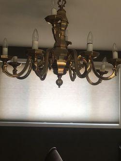 Beautiful Brass Antique Light Fixture for Sale in Washington,  DC