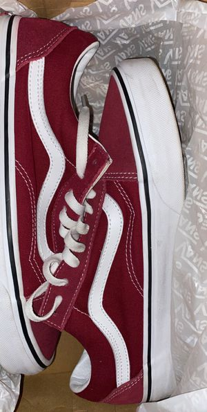 Vans burgundy for Sale in Fresno, CA