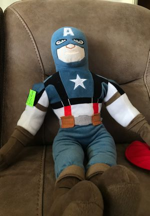 "27"" Marvel/captain America stuffed animal pillow $20 for Sale in Menifee, CA"