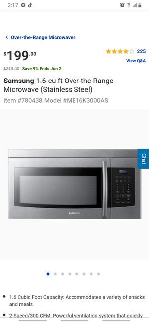Samsung microwave for Sale in Oakland, CA