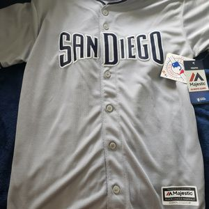 San Diego Padres Jersey MLB Majestic Major League Baseball Size Youth New with Tag for Sale in San Diego, CA