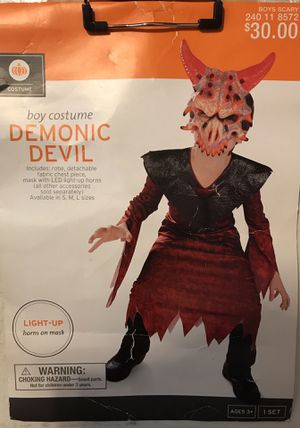 Boys- DEMONIC DEVIL- (4/6)-W/LITE UP Horns for Sale in Las Vegas, NV