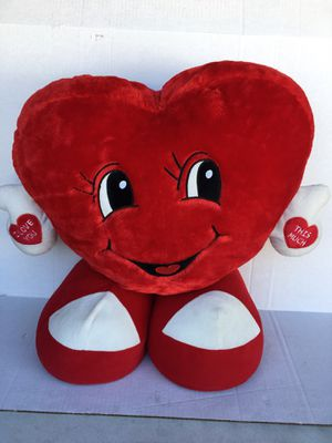 Giant I Love you this Much Valentines Day Gift Heart Shaped plush stuffed animal for Sale in Orange, CA