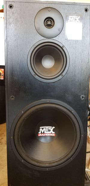 MTX Tower Speakers 12 with Klipsch Woofer and Denon Reciever for Sale in Stockton, CA