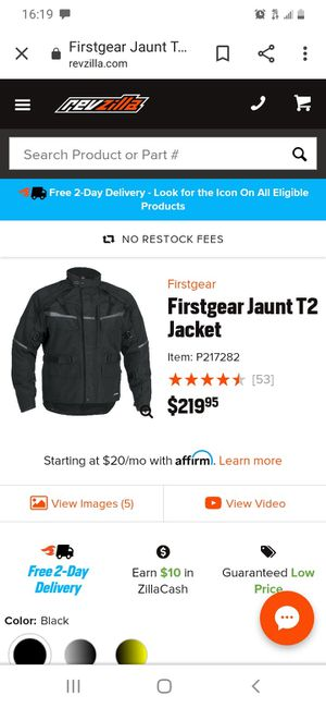 First gear Jaunt T2 motorcycle jacket for Sale in Aurora, OR