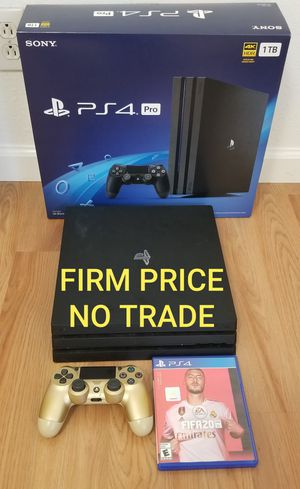 PS4 PRO 2019 MODEL + FIFA20, NO OFFER, MINT CONDITION, NO TRADE, READ DESCRIPTION FOR DETAILS for Sale in Santa Ana, CA