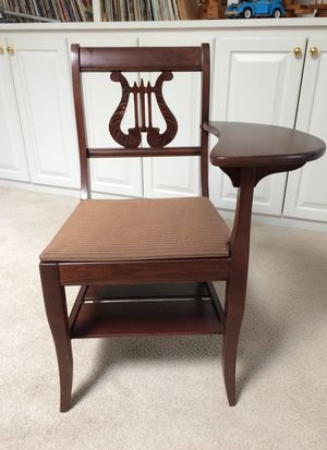 Beautiful antique telephone seat/left arm desk for Sale in Greenville, SC