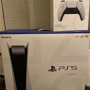PS5 Disc Console With Extra Controller for Sale in York, PA