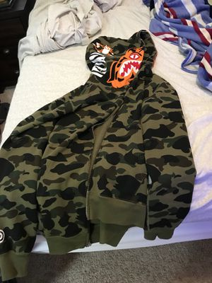 Bape green tiger camo hoodie BRAND NEW for Sale in Wesley Chapel, FL