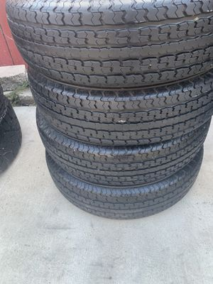 ST205-75-15 trailer tires made 2017 like new for Sale in Sacramento, CA