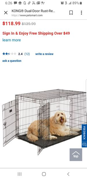 KONG dog crate for LARGE dog for Sale in Washington, DC